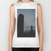 dallas Biker Tanks featuring Dallas Nightline by Kaartik Gupta