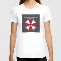 resident evil T-shirts featuring No119 My RESIDENT EVIL minimal movie poster by Chungkong