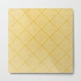 Stitched Diamond Geo in Yellow Metal Print