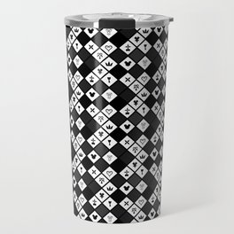 Kingdom Hearts III - Pattern - Black Travel Mug