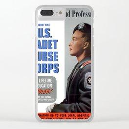 U.S Cadet Nurse Clear iPhone Case