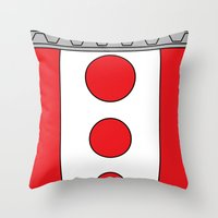 persona 4 Throw Pillows featuring Persona 4 Teddie Suit by Bunny Frost