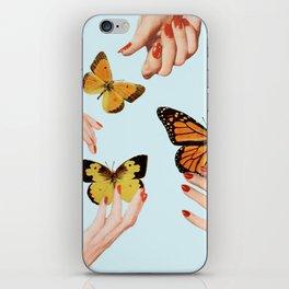 Social Butterflies iPhone Skin