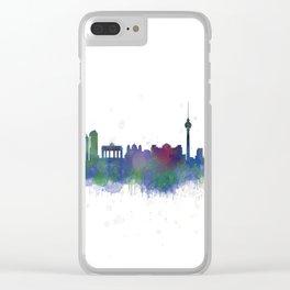 Berlin City Skyline HQ2 Clear iPhone Case