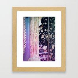 Pink Decorative Doorway Framed Art Print