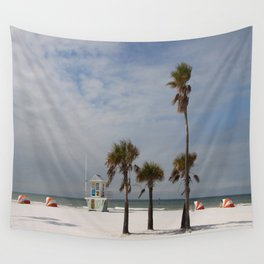 Clearwater Beach In Wintertime Wall Tapestry