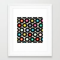 vinyl Framed Art Prints featuring VINYL by Sharon Turner