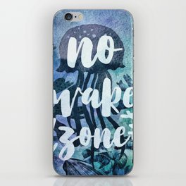No Wake Zone iPhone Skin