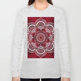 Mandala Red Colorburst Long Sleeve T-shirt