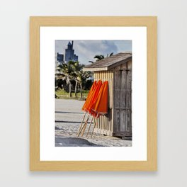 half a hut Framed Art Print