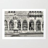 hercules Art Prints featuring Hercules' back by Roberto Pagani