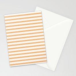Bright Orange Russet Mattress Ticking Wide Striped Pattern - Fall Fashion 2018 Stationery Cards