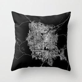 Las Vegas map Throw Pillow