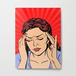 Headache Metal Print