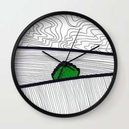 Landscape with Green Horse Chestnut Tree Wall Clock