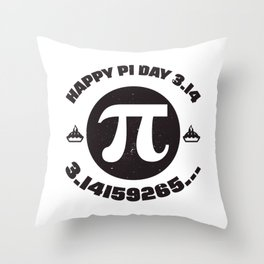 Happy Pi Day 3.14 Math product Throw Pillow