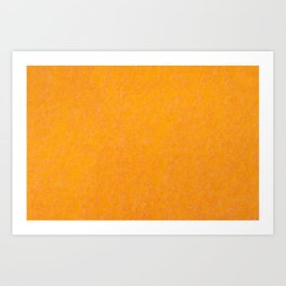 Yellow orange material texture abstract Art Print