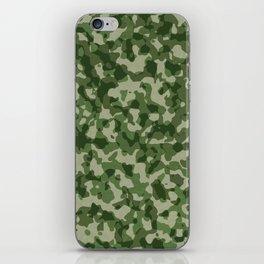Military Jungle Green Camouflage iPhone Skin
