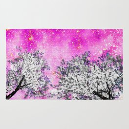 NEBULA  DREAMS TREES  PINK Rug