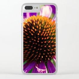 Hedgehog Flower Power Clear iPhone Case