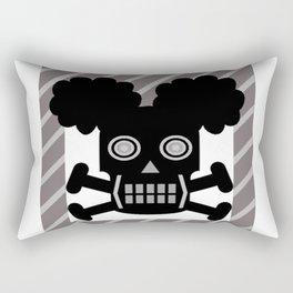 bbbnyc skull afro puff girl Rectangular Pillow