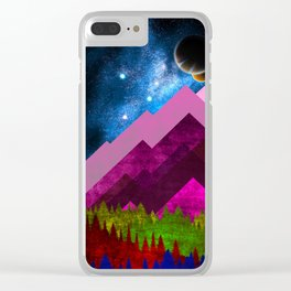 Purple Nature Clear iPhone Case