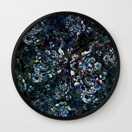 Night Garden Skulls Wall Clock