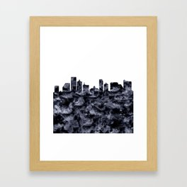 Atlantic City Skyline Framed Art Print
