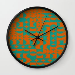 Fire red and green Wall Clock