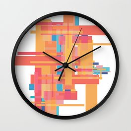 Sherbet Scaffold  Wall Clock
