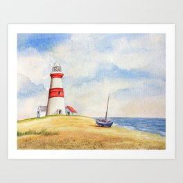 Orford Ness lighthouse Art Print