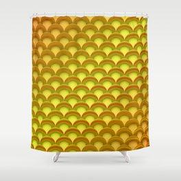 Lifesaver Pattern Shower Curtain