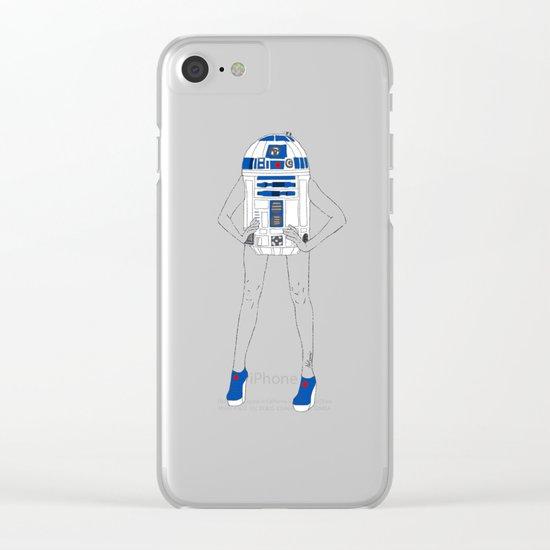 Girl R2-D2 Clear iPhone Case
