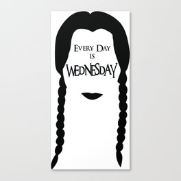 Wednesday Addams is my Spirit Animal Canvas Print