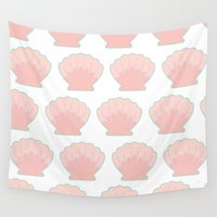 shells Wall Tapestries featuring Sea Shells by nessieness