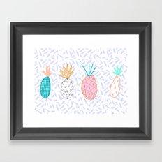 Pineapple. Illustration, print, pattern, fruit, design, fun, Framed Art Print