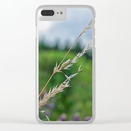 only a blade of grass Clear iPhone Case