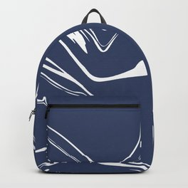 Blue With White Liquid Paint Backpack