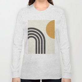 Mid century modern Sun & Rainbow Long Sleeve T-shirt