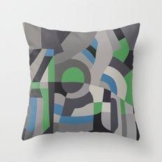 Hacienda Green Throw Pillow