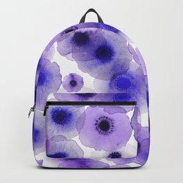 Purple anemones Backpack