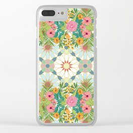 floral zellij ntropical Clear iPhone Case