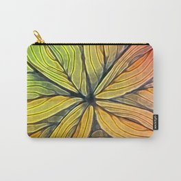 Doodled Aura-Leah Digitized Macro Carry-All Pouch