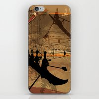 rowing iPhone & iPod Skins featuring Rowing by Robin Curtiss