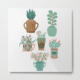 House Plant Gang Metal Print