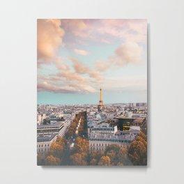 City of Love - Paris Sunset Wall Art Metal Print