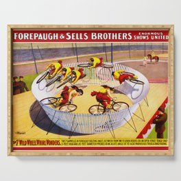 Vintage Bicycle Circus Act Serving Tray