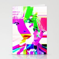 holographic Stationery Cards featuring future holographic lover by Robert Alan