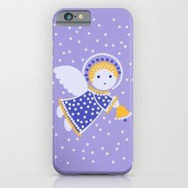 Angel on the light violet iPhone Case