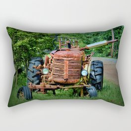 Abandoned Farm Tractor Rectangular Pillow